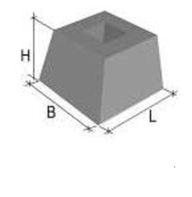 Фундаментный блок Ф-1.1