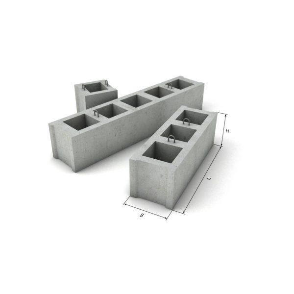 Блок фундаментный пустотный ФБП 12-1