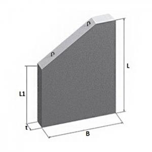 Стенки откосные прямоугольных звеньев