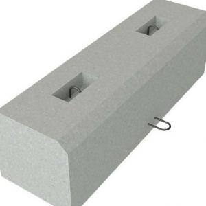 Блоки упоров железобетонные