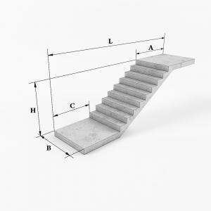 Ребристые площадки и полуплощадки для маршей типа ЛМП (ЛПП)